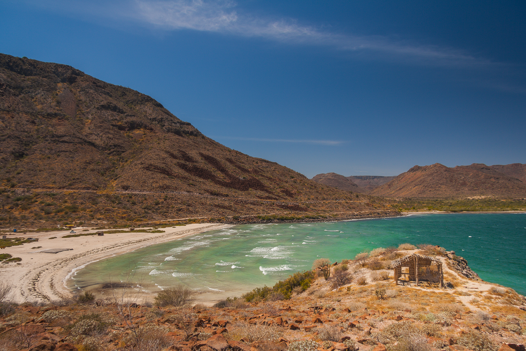 Playa en Bahía de Concepción, Baja California Sur, México.