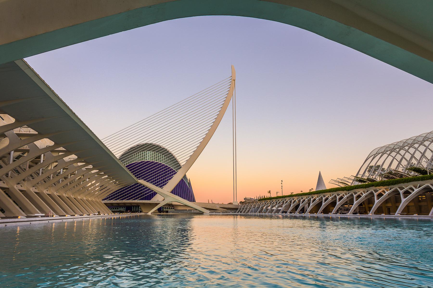 Ciudad de las Artes y las Ciencias, Valencia, España.