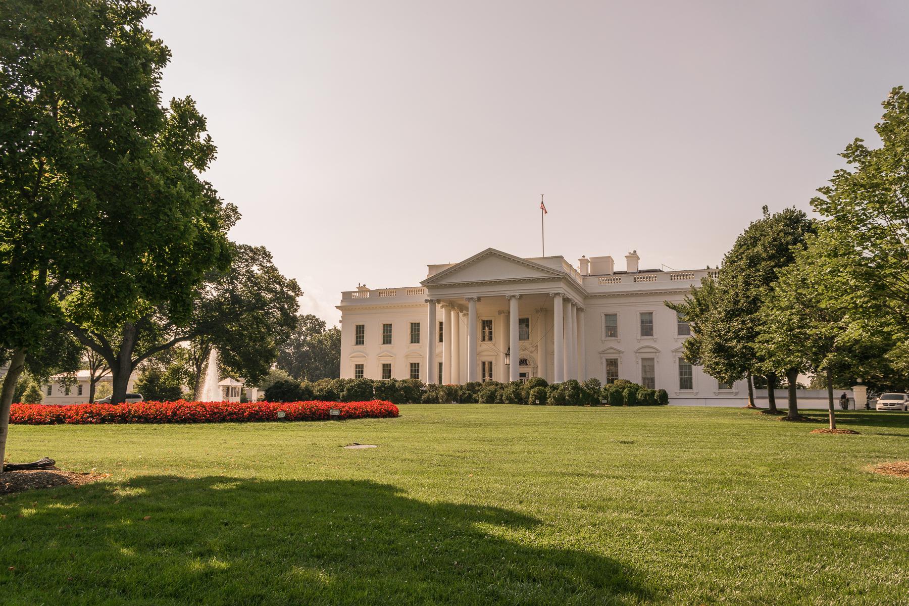 Vista trasera de la Casa Blanca en Washington DC.